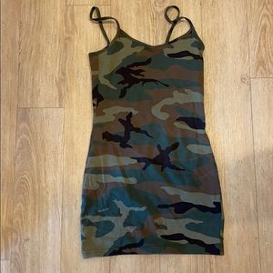 TNA camo mini dress